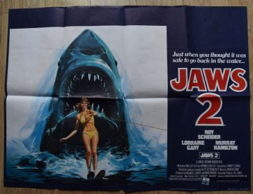 Jaws 2 (1978) Film Poster - UK Quad